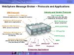 websphere message broker protocols and applications