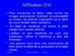 affiliation 2 4