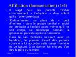 affiliation humanisation 1 4