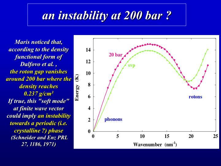 an instability at 200 bar ?