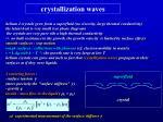 crystallization waves