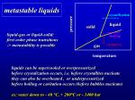 metastable liquids