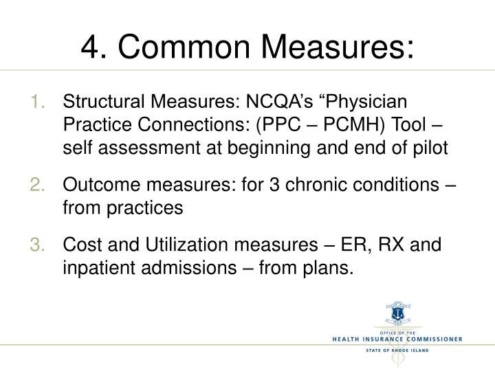 4. Common Measures: