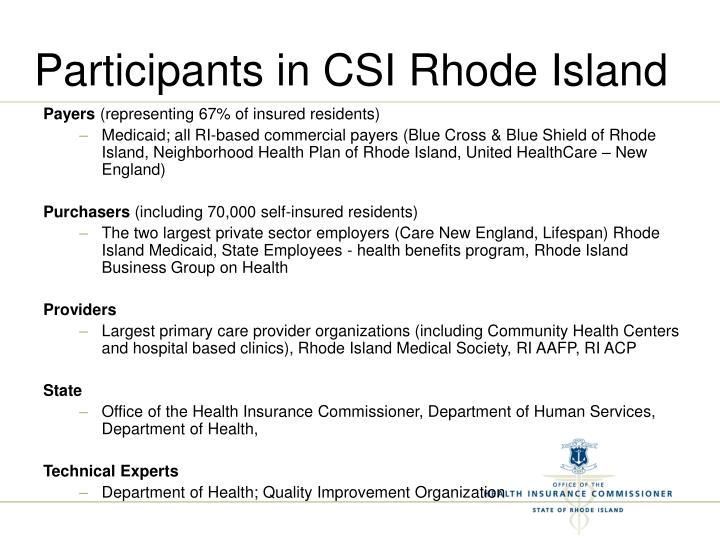 Participants in CSI Rhode Island