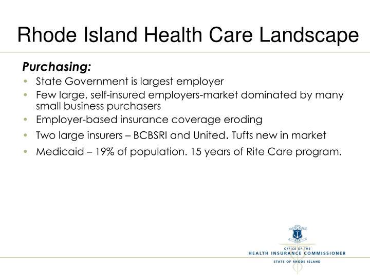 Rhode island health care landscape