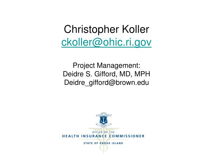 Christopher Koller