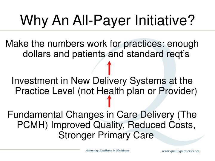 Why An All-Payer Initiative?