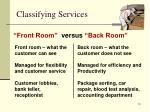 classifying services
