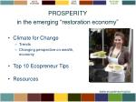 prosperity in the emerging restoration economy