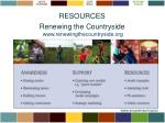 resources renewing the countryside