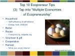 top 10 ecopreneur tips 3 tap into multiple economies of ecopreneurship