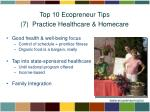 top 10 ecopreneur tips 7 practice healthcare homecare