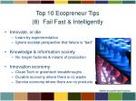 top 10 ecopreneur tips 8 fail fast intelligently