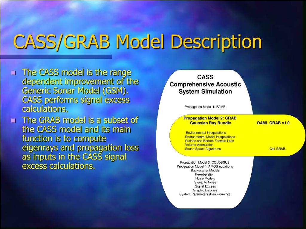 CASS/GRAB Model Description