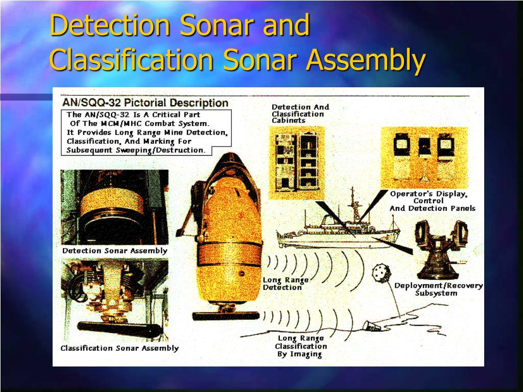 Detection Sonar and Classification Sonar Assembly