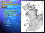 yellow sea bottom sediment chart