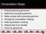 consultation steps