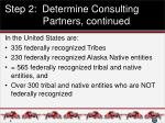 step 2 determine consulting partners continued