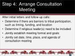 step 4 arrange consultation meeting