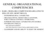 general organizational competencies