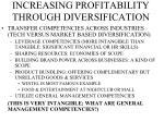 increasing profitability through diversification