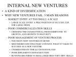 internal new ventures