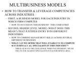 multibusiness models