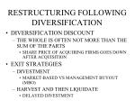 restructuring following diversification