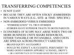 transferring competencies