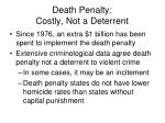 death penalty costly not a deterrent
