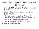 disenfranchisement of convicts and ex felons