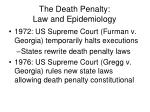the death penalty law and epidemiology