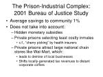 the prison industrial complex 2001 bureau of justice study