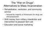 the war on drugs alternatives to mass incarceration