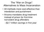 the war on drugs alternatives to mass incarceration2