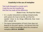 creativity in the use of metaphor