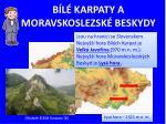 b l karpaty a moravskoslezsk beskydy