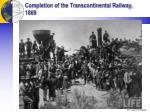 completion of the transcontinental railway 1869