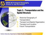 topic 2 transportation and the spatial structure