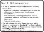 step 1 self assessment