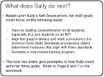 what does sally do next