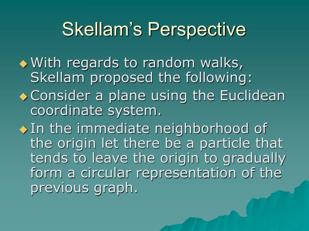 Skellam's Perspective