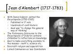 jean d alembert 1717 1783