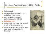 nicolaus copernicus 1473 1543