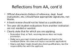 reflections from aa cont d3