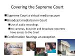 covering the supreme court
