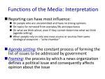 functions of the media interpretation