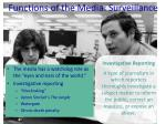 functions of the media surveillance