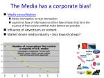 the media has a corporate bias