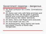 government response dangerous